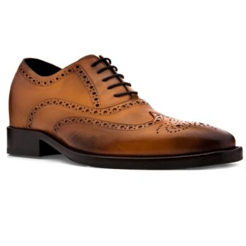 eleganti oxford uomo in vera pelle marrone cognac
