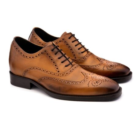 brogue brown dress shoes