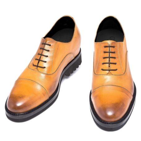 burnished light brown dress shoes 8