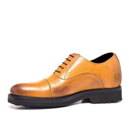 burnished light brown dress shoes 7