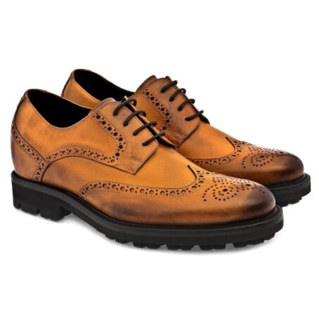 burnished light brown brogue dress shoes 3