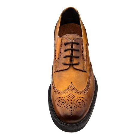 burnished light brown brogue dress shoes 2