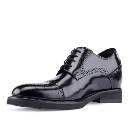 black shiny bourgue dress shoes 3