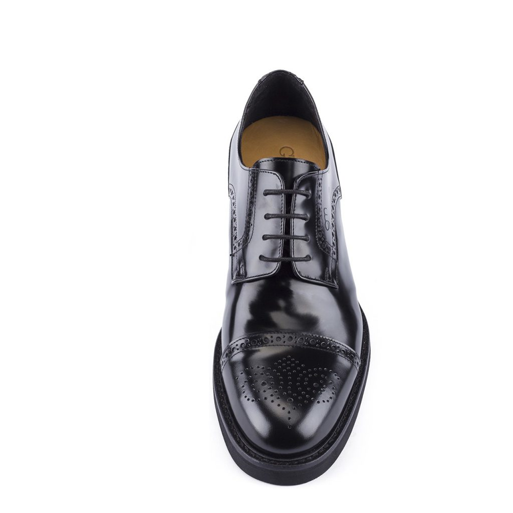 black shiny bourgue dress shoes 2