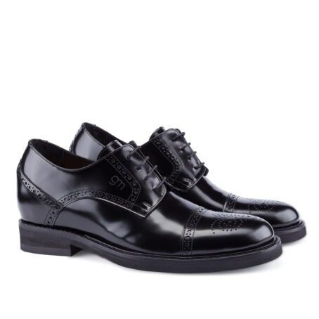 black shiny bourgue dress shoes