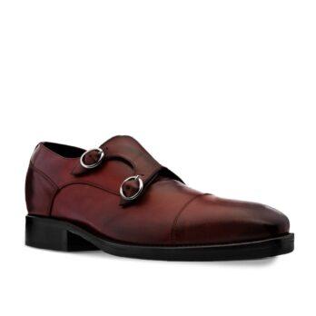 Chaussures de Ville en cuir pleine fleur bordeaux  1