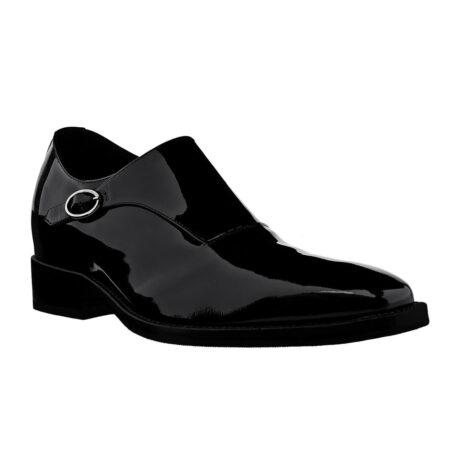 shiny black monk dress shoes 5