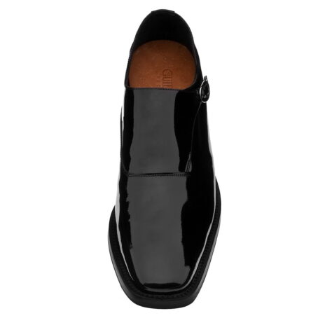 shiny black monk dress shoes 2