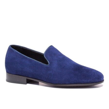 blue navy suede opera opera loafers 8