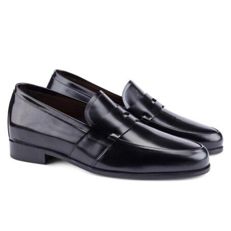guidomaggi scarpa nera elegante mocassino pelle