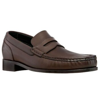 dark brown leather opera loafers 5