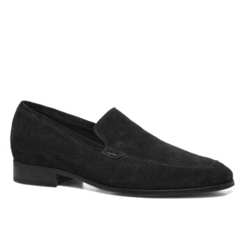 black suede opera loafers 5