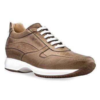 Damen Schuhe Brüniertes Braun Sneakers Qualitätsmerkmale Vollnarbiges Leder 1