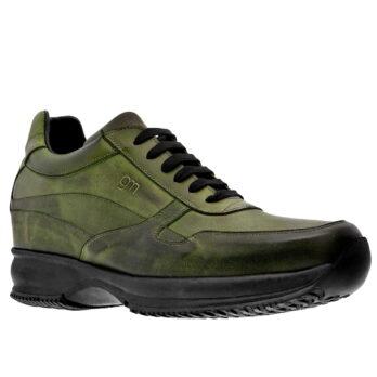 burnishe olive green sneakers 5