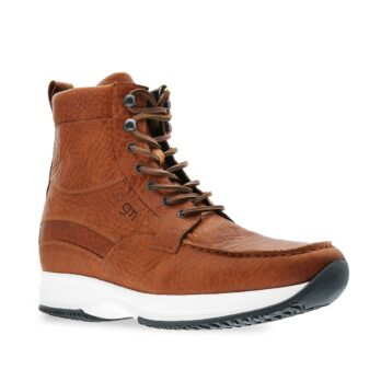 medium brown high cut sneakers
