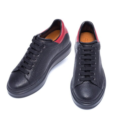 black and red casual sneakers 4