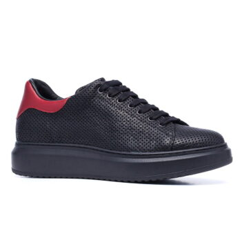 black and red casual sneakers 5