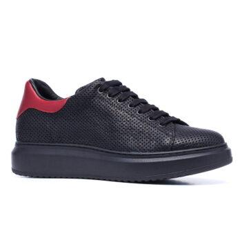 Schwarze Sneakers mit Absatz Handgefertigte aus Italien 1