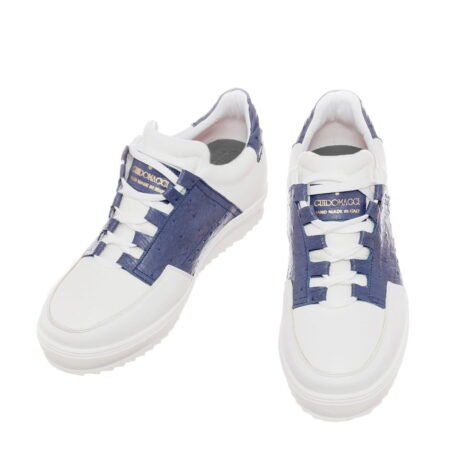 white and blue navy sneakers 4
