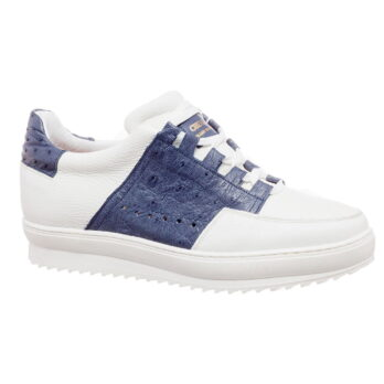 white and blue navy sneakers 5