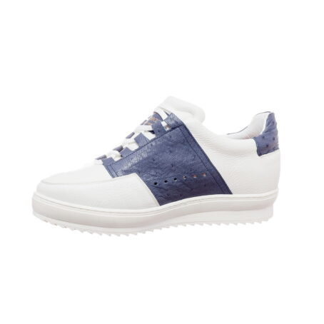 white and blue navy sneakers 3