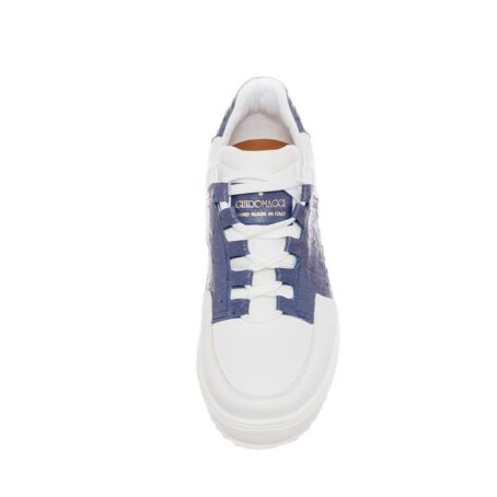 white and blue navy sneakers 2