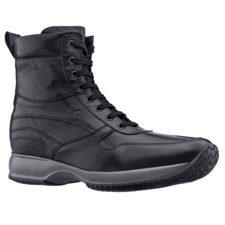 sneakers uomo in vera pelle colore nero