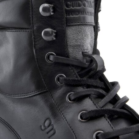 black leather high cut sneakers