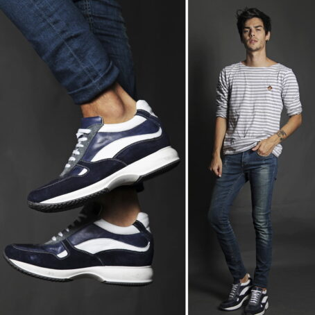 Sneakers mit Absatz Qualitätsmerkmale Vollnarbiges Leder 5