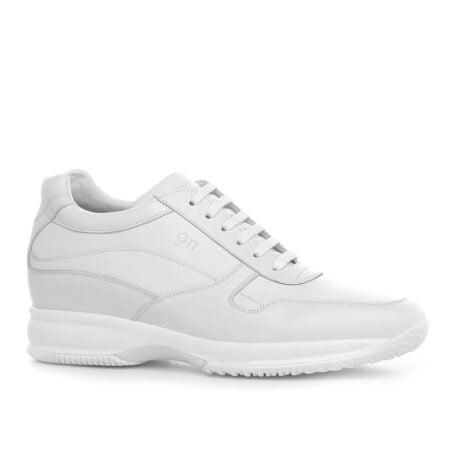 Sneaker donna in pelle bianca