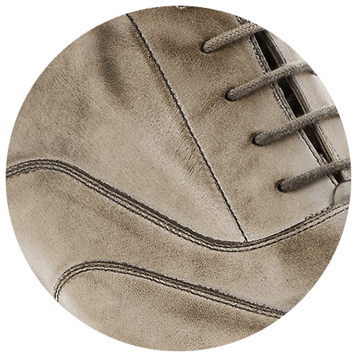 detail brown light leather shoe - Guidomaggi Switzerland