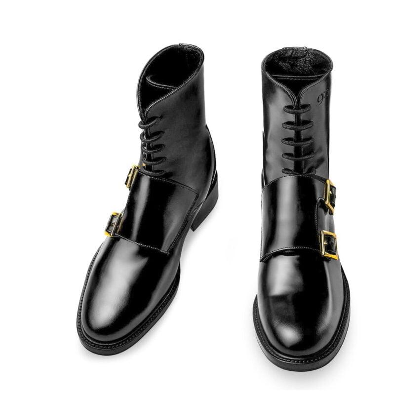 Black shiny boots Guidomaggi rising boots switzerland 2