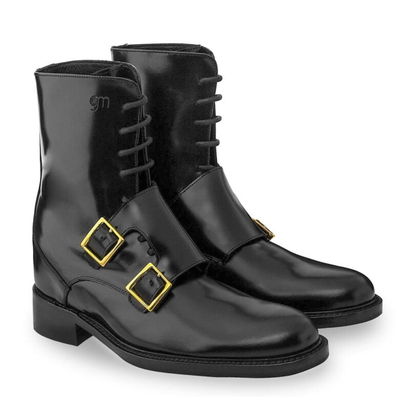 Black shiny boots Guidomaggi rising boots switzerland