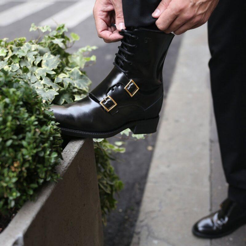 Black shiny boots Guidomaggi rising boots switzerland 6