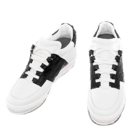 Abbey road leather python elevator shoe