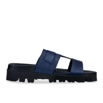blue leather sandals with eleveted outsole 1