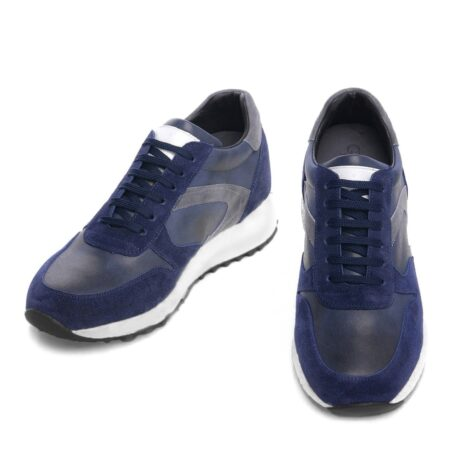blue and grey suede sneakers 2