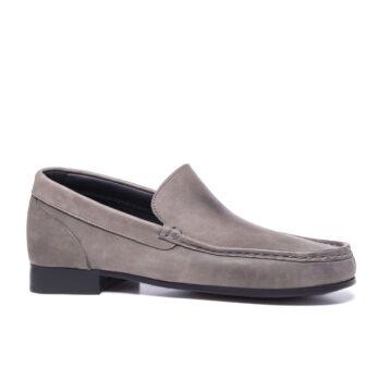 grey mocassini in soft leather 1