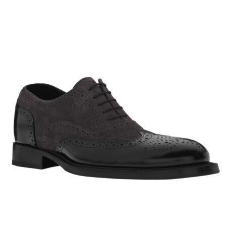 dark suede oxford shoes wingtip brogue 1