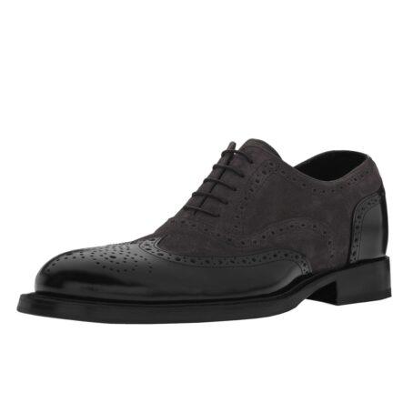 dark suede oxford shoes wingtip brogue 3