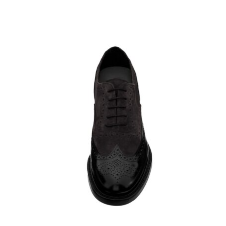 dark suede oxford shoes wingtip brogue 4