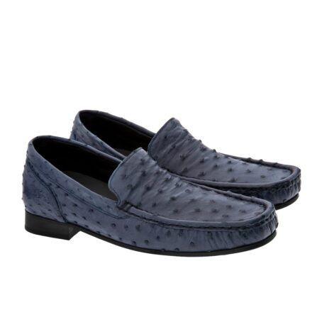 blue ostrich mocassini for man 5