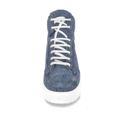 sneakers in light blue suede with denim effect 4