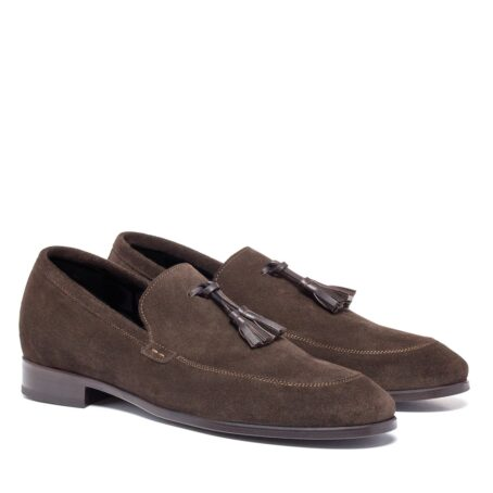opera loafers in suede leather with tassel leather 5