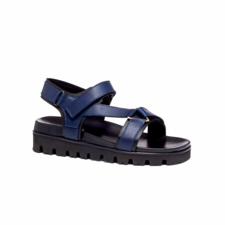 blue leather sandals for man 1