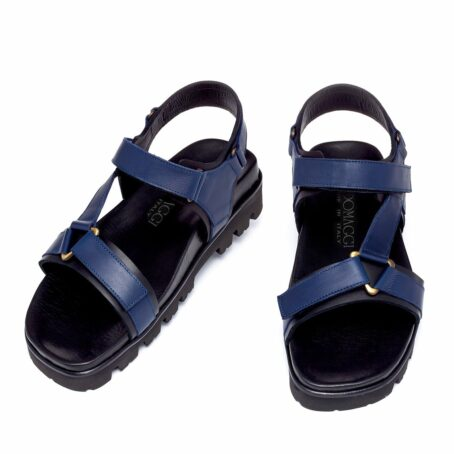 blue leather sandals for man 2