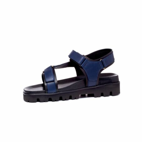 blue leather sandals for man 3