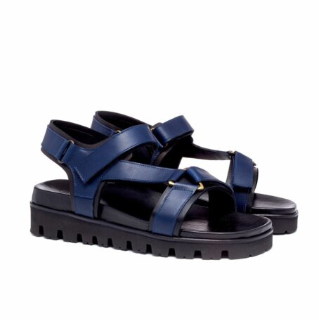 blue leather sandals for man 5