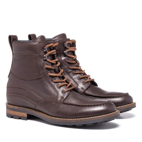 boots in dark brown leather with western style 4