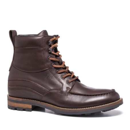 boots in dark brown leather with western style 1